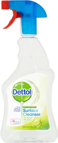 Dettol Antibakteriálny sprej na povrchy Limetka a mäta