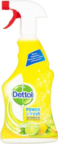 Power & Fresh Antibakteriálny viacúčelový sprej – Citrón & limeta
